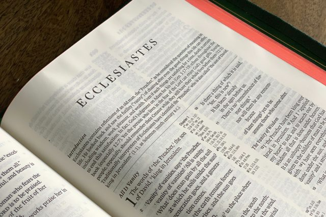 Leçons de l'Ecclésiaste 7 pour les temps COVID